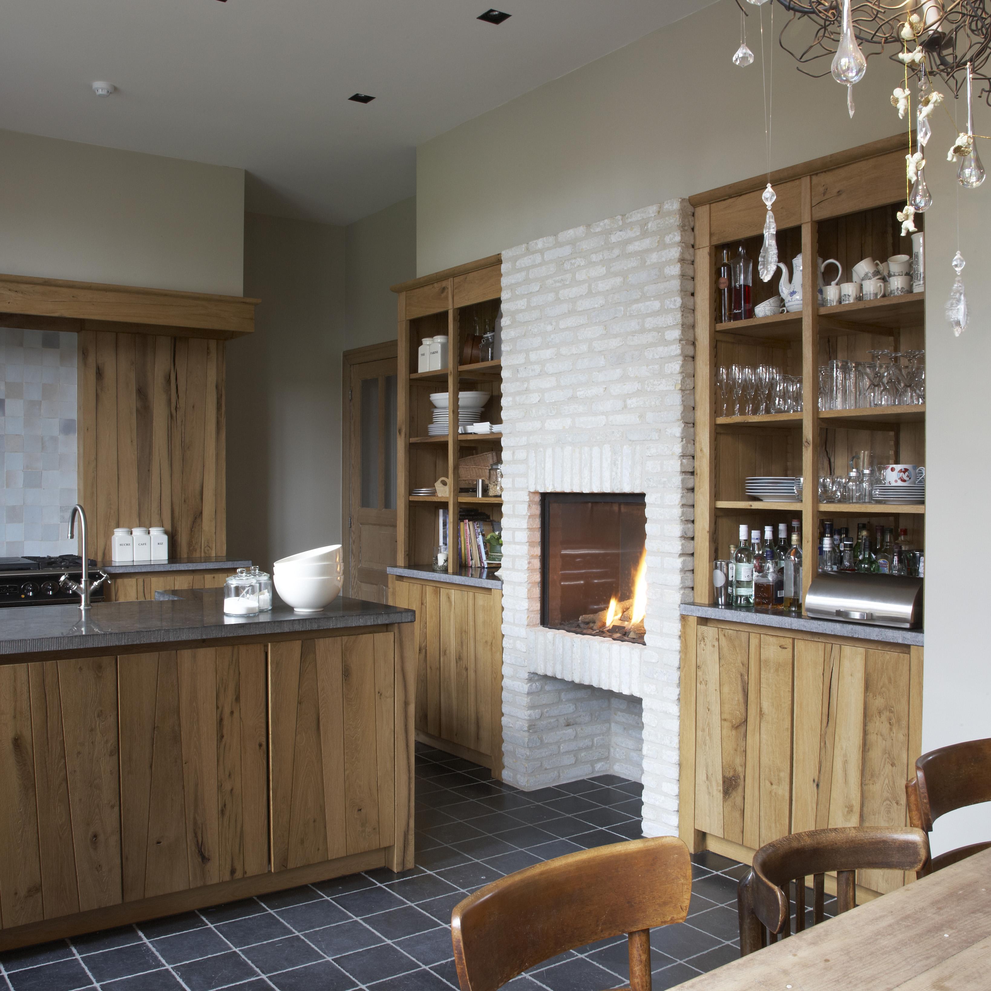 Keuken l interieur verkest - Oude stijl keuken wastafel ...